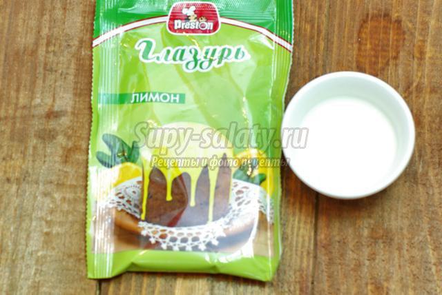 миндальное печенье с лимонной глазурью