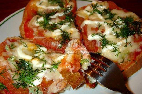 бутерброды со шпротами в духовке рецепты с фото