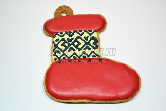 Новогоднее печенье на елку