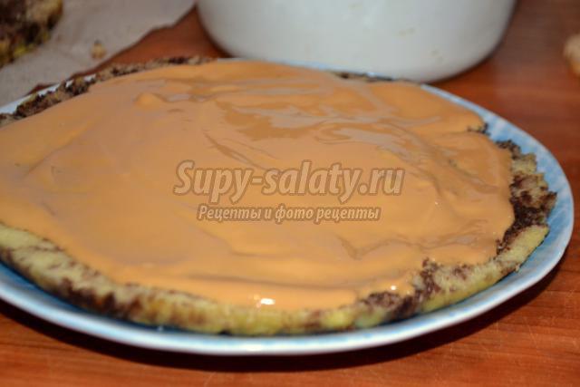 новогодние пирожные со сгущенкой