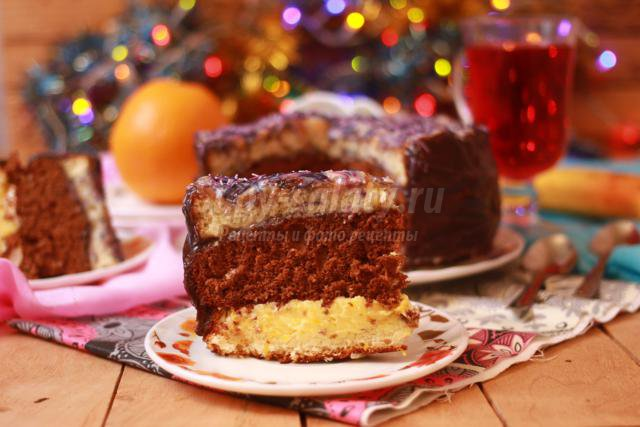 торт к Новому году с апельсиновыми нотками