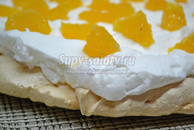 торт Павлова с апельсином