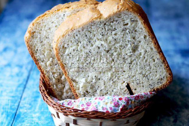 маковый хлеб в хлебопечке
