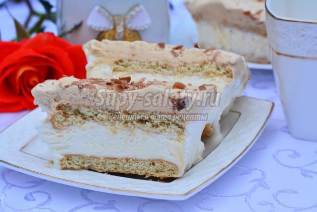 торт-мороженое с печеньем и шоколадом