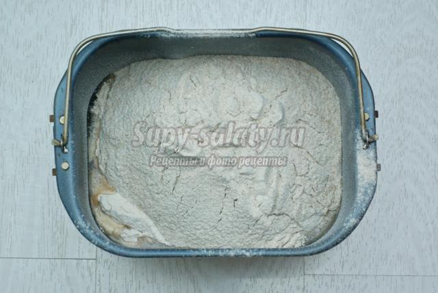 хлеб из муки с тыквенными семечками в хлебопечке