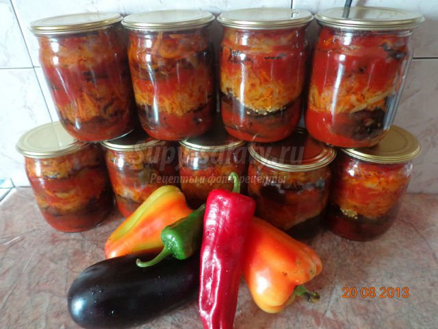 Кабачки баклажаны перец лук морковь рецепты на зиму