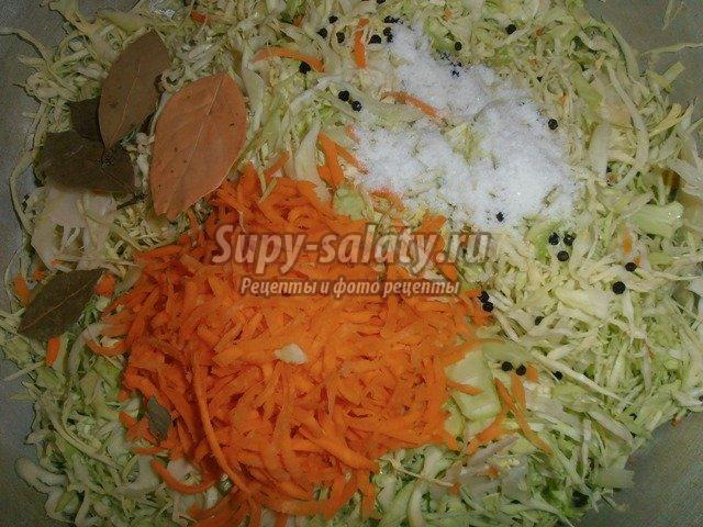 Капуста с морковью на зиму. Как заготовить?