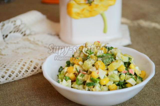 Салат картофель крабовые палочки кукуруза