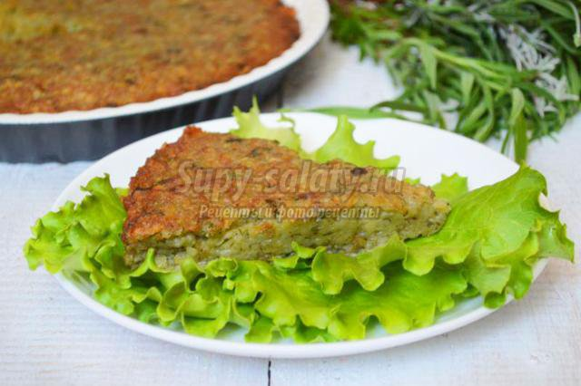 картофельная запеканка с зеленью