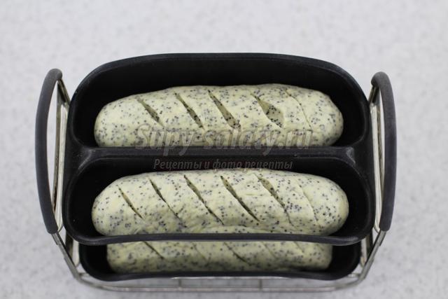 маковые багеты в хлебопечке