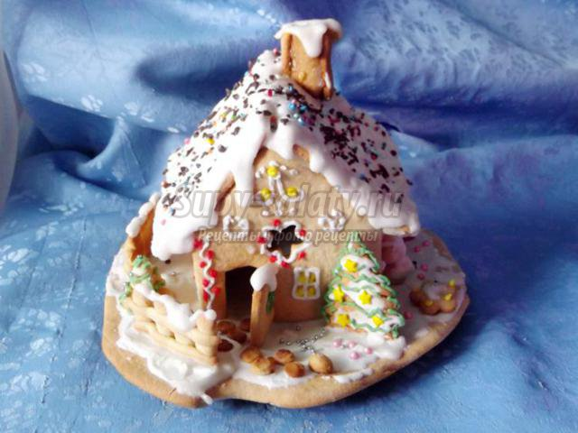 пряничный домик медово-коричный