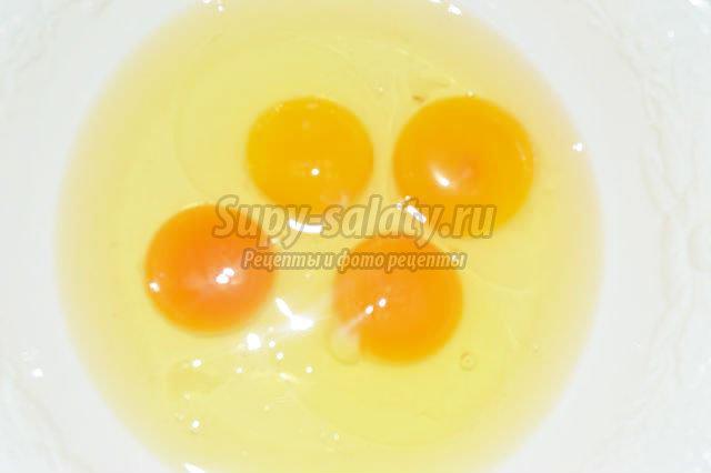 яичница со спаржевой фасолью