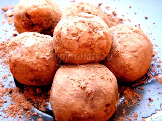 конфеты-трюфели из сухого молока или смеси