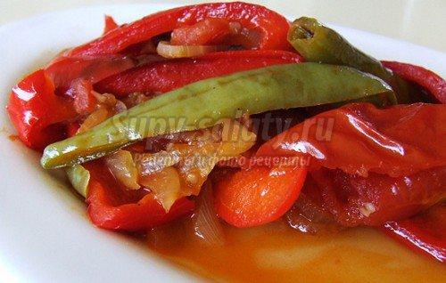 Вкусные салаты: болгарский перец на зиму