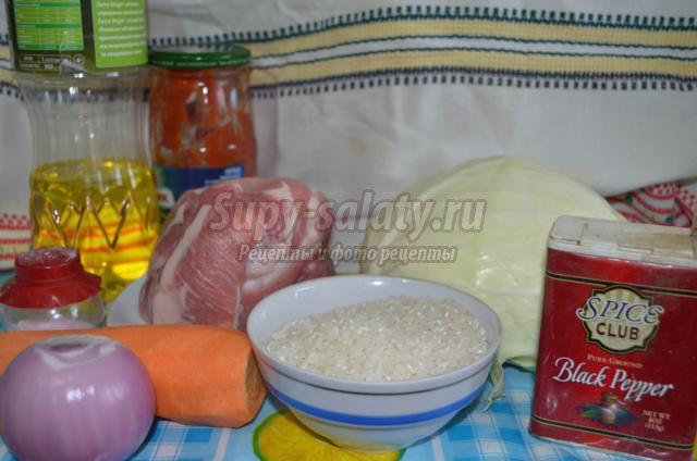 домашние голубцы с рисом и свининой