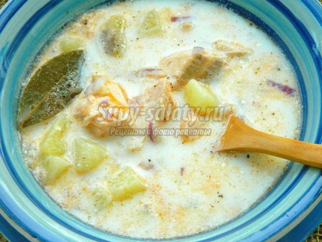 норвежский рыбный суп со сливками рецепт с фото