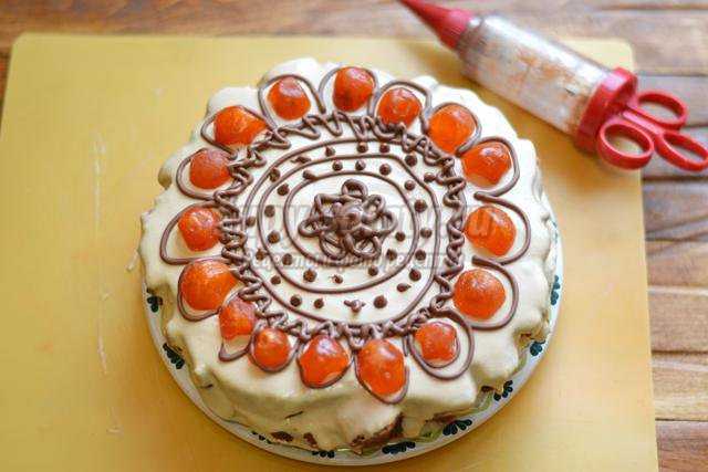 кофейный торт со сметанным кремом
