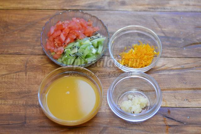 запеченный окорок с апельсинами
