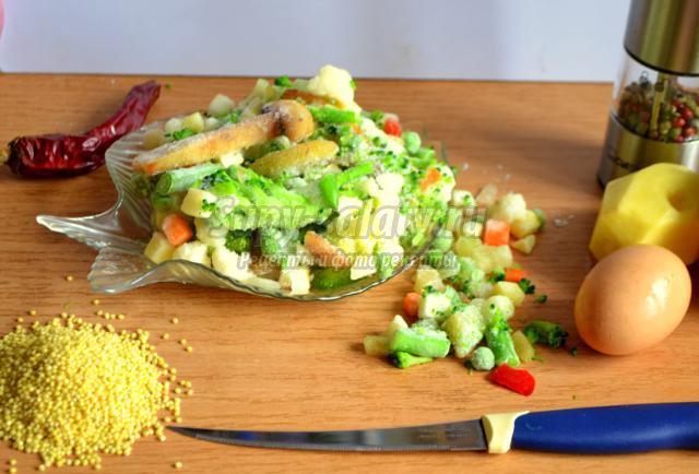 суп из овощной смеси. Воспоминание о лете