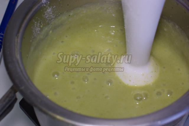 диетический суп-пюре из брокколи и риса