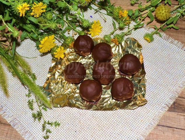 шоколадные конфеты с овсянкой и семечками