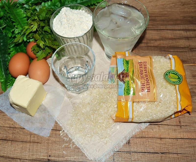 пирог с рисом