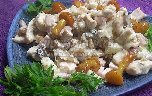 Салат с маринованными грибами рецепты с простые и вкусные на день рождения 2