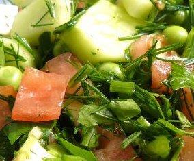 простые салаты с рецептами не слоеные