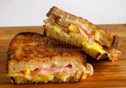 Бутерброды на сковороде. Готовим быстро и вкусно