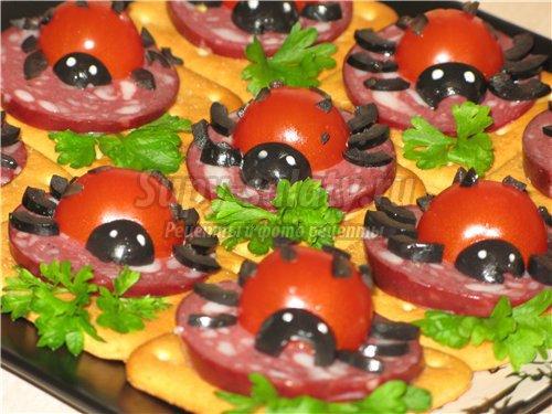 Самые простые бутерброды на праздничный стол