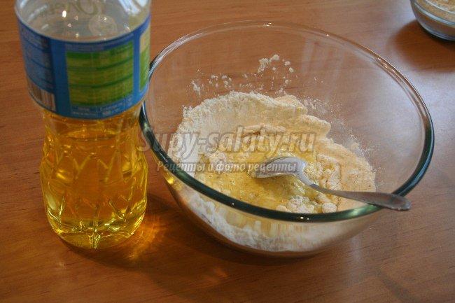Домашняя лапша с медом и орехами