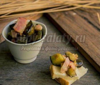 закуска из баклажанов с беконом