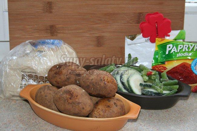 Цуккини запеченные в духовке с картофелем