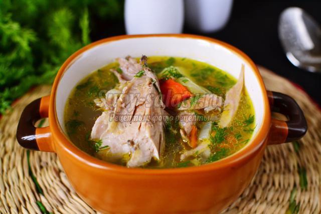суп из индейки с фасолью