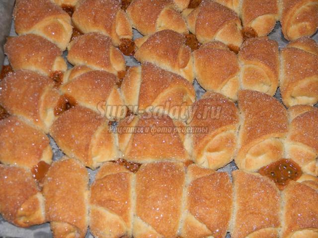 Рогалики со сгущенкой рецепт с фото пошагово