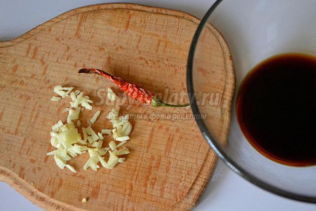 косичка из судака в соевом маринаде