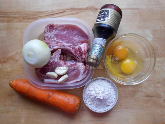 рубленые котлетки из свинины с морковью