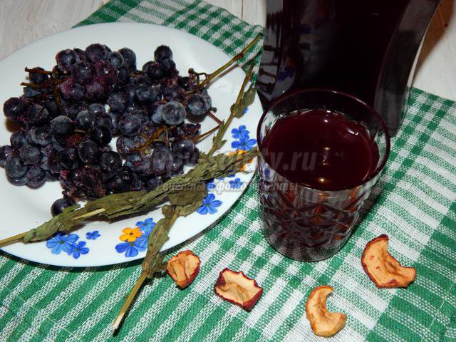 виноградная наливка на коньяке