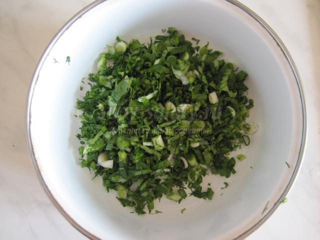 витаминный диетический салат. Весна