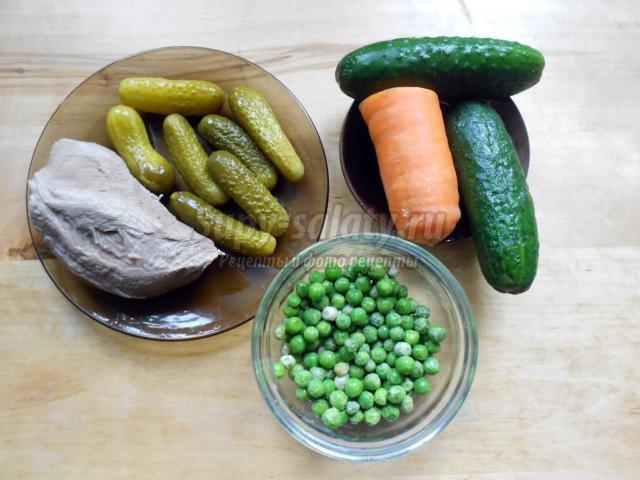 свежий салат с говядиной рецепт