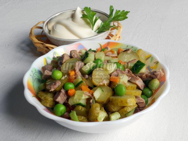 салат с говядиной. Околица