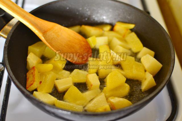 суп с куриными сердечками и манкой