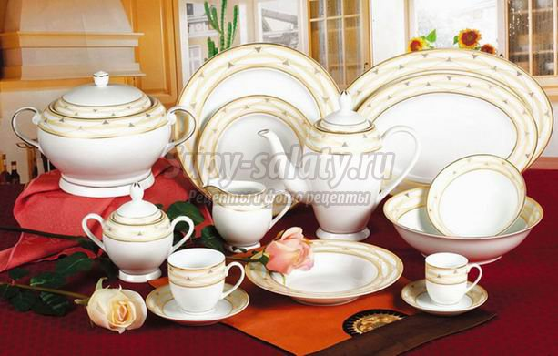 Фарфоровая посуда: правильно выбираем и ухаживаем