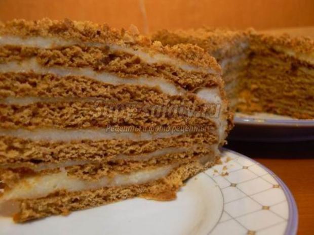 Крем для медового торта на молоке