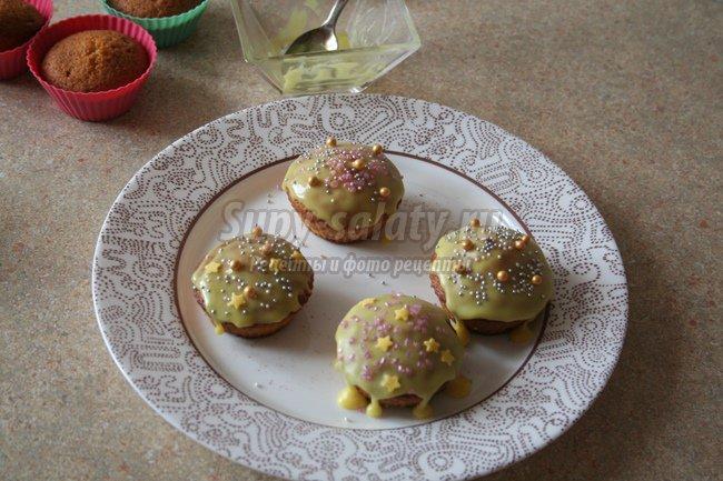 Кексы с джемом к Пасхе