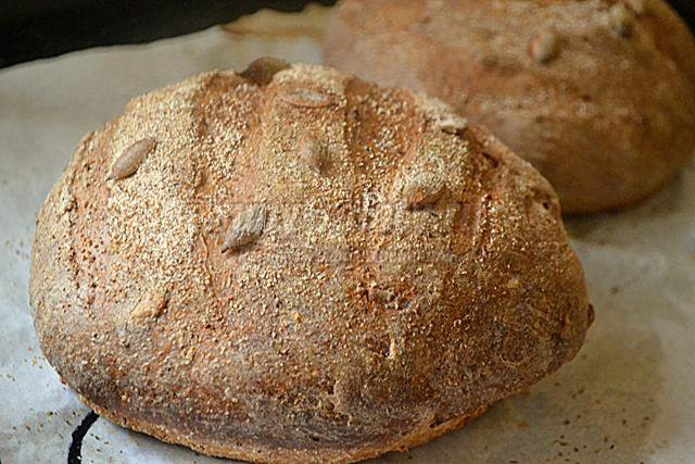 Горчичный хлеб с отрубями