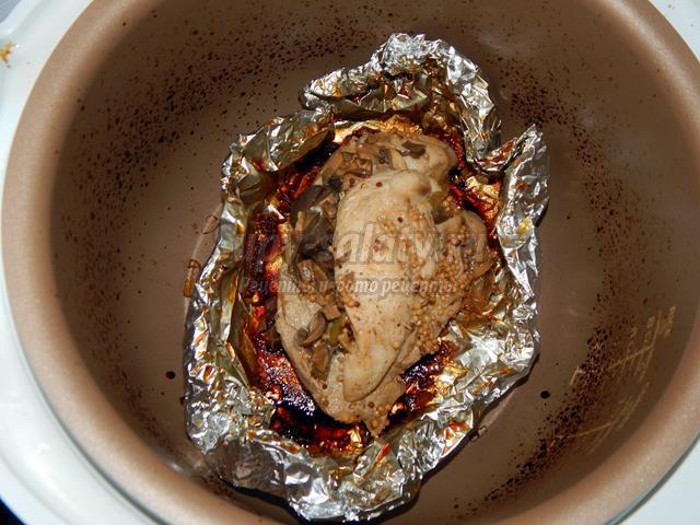 филе курицы в мультиварке с грибами