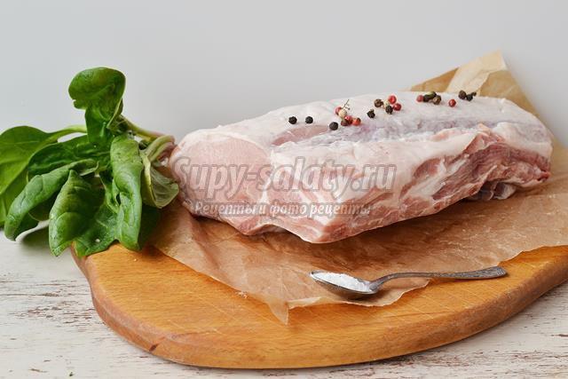 Свинная отбивная со шпинатом