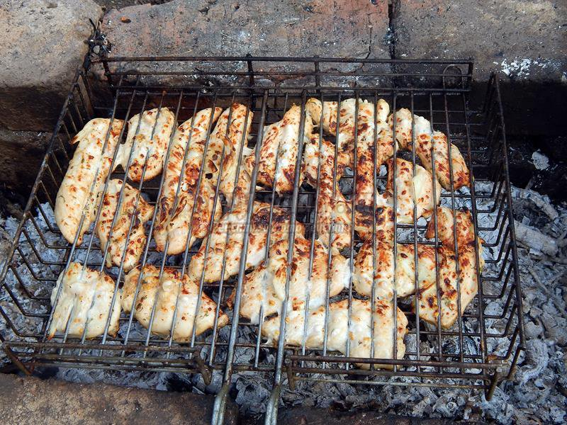 Рецепт курицы костре фото