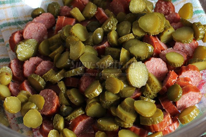 рецепт с охотничьими колбасками рецепт с фото